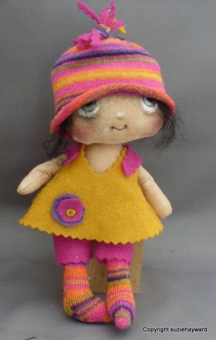 Текстильные куколки от Suzie Hayward. Обсуждение на LiveInternet - Российский Сервис Онлайн-Дневников