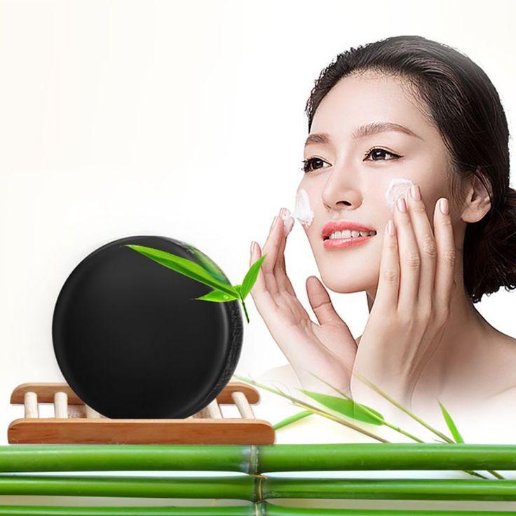 Negro de Carbón de Bambú Jabón de Limpieza Facial Cuidado de La Piel Baño de Cuerpo de Belleza de Eliminación De Aceite CALIENTE