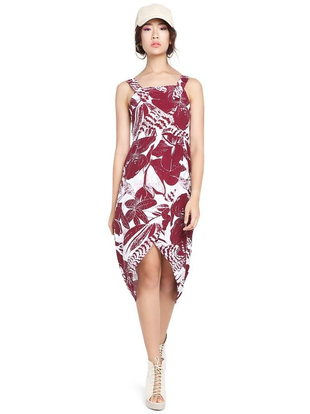 Image of Island Overall Dress, Maroon