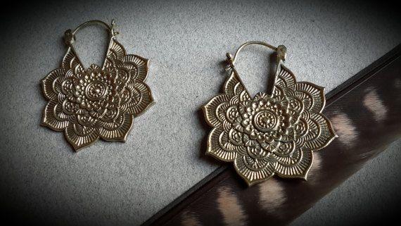 brass earring gypsy big