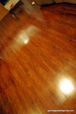 Making Hand Scraped Hardwood Floors Shine Again : How to make hardwood floors shine WITHOUT getting on your hands and ...