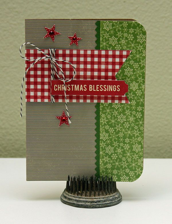Christmas Blessings. this is a cute layout! :) very primative