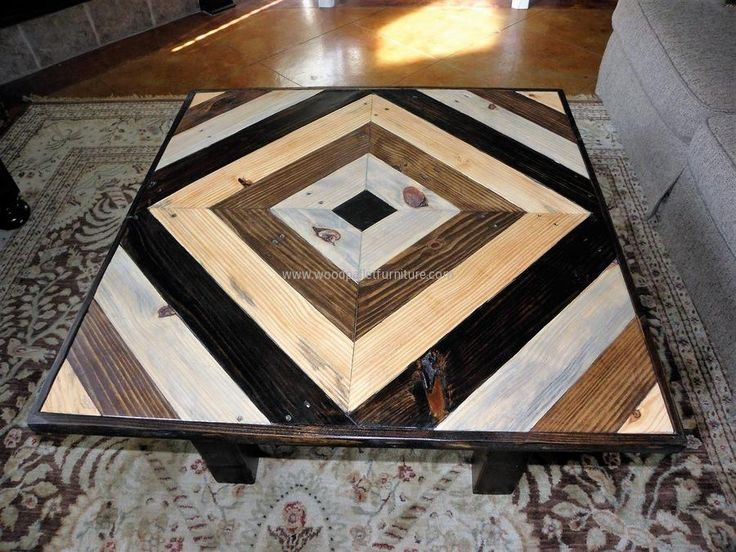 Marvelous Pallets Square Coffee Table Great Pictures