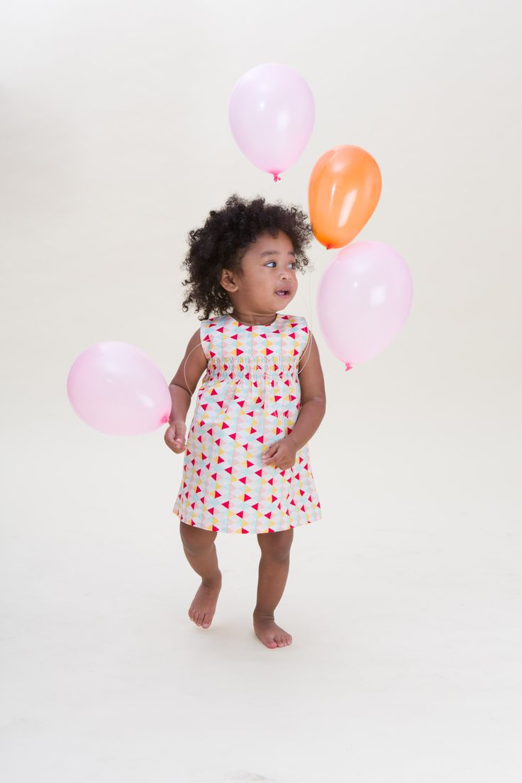 Harlequin Print Baby Sundress