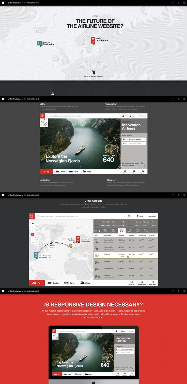 Is This the Future of the Airline Website?, 23 September 2013. http://www.awwwards.com/web-design-awards/is-this-the-future-of-the-airline-website   #WebInteractive #ResponsiveDesign #Design