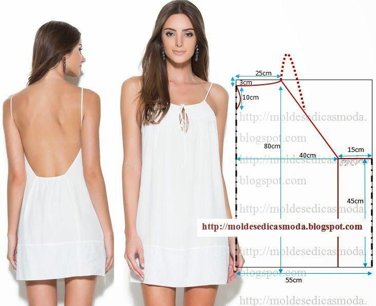 Moldes Moda por Medida: VESTIDO FÁCIL DE FAZER - 13