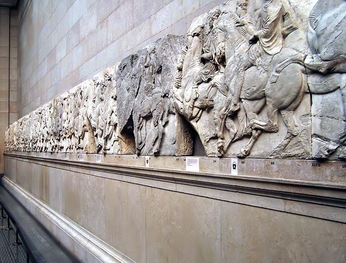 Part of the magnificent Parthenon Marbles, sadly NOT at home at the Acropolis or the Acropolis Museum. You need to visit England to see and admire their beauty...