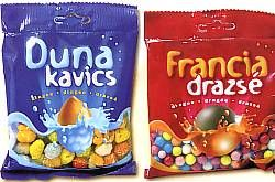 Hungarian sweets - Duna kavics, Francia drazsé