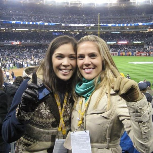 """#TBT 2009. #WorldSeries Game 6. #Yankees #Phillies  I had just moved to Philly from LA and got tickets to the game. Called my sister on Long Island """"want to meet me at Yankee Stadium?"""" - so special to share that experience together  (@adybec I know you can relate! Loved catching you & your little sis on the jumbotron at Gm 7 last night)  Big CONGRATS to the #Houston #Astros and their quest to #EarnHistory & THANK YOU to the #Dodgers #ThisTeam gave our city one helluva run.  What a series…"""