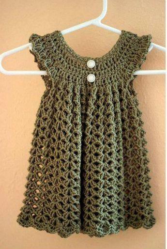 Baby girl dress, Pink dress, Baby girl Crochet dress on Etsy, $17.00