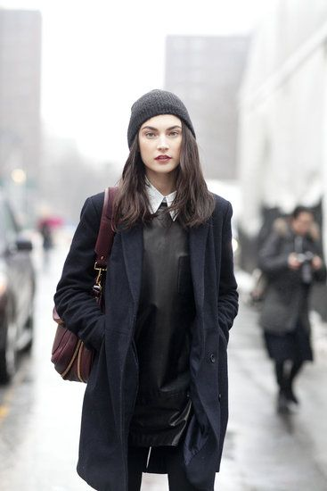 JJ all rugged up. #offduty in NYC. #JacquelynJablonski