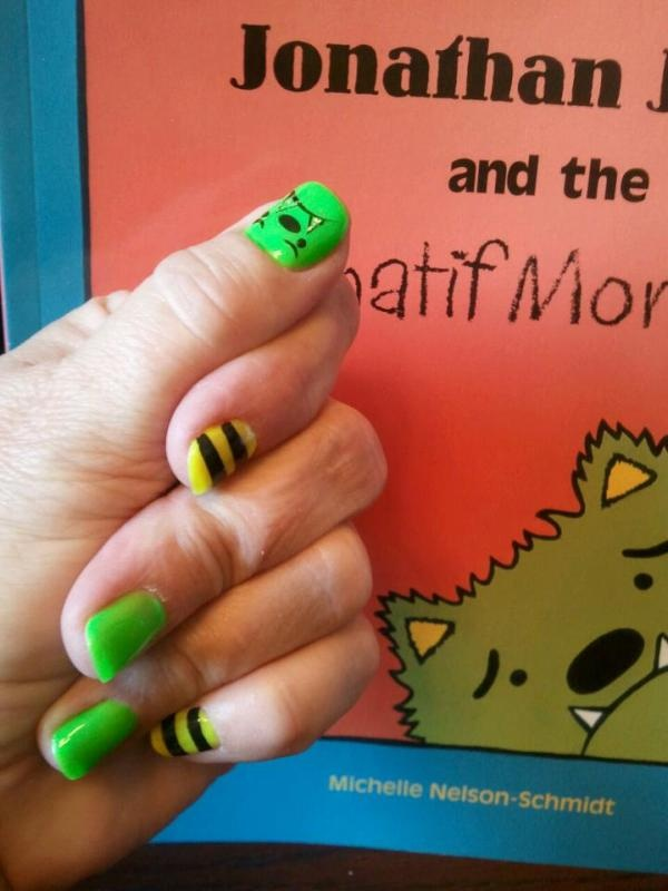 Nails go along with an amazing book!   Whatifmonsters.com What if...you checked it out?! @Michelle Nelson-Schmidt