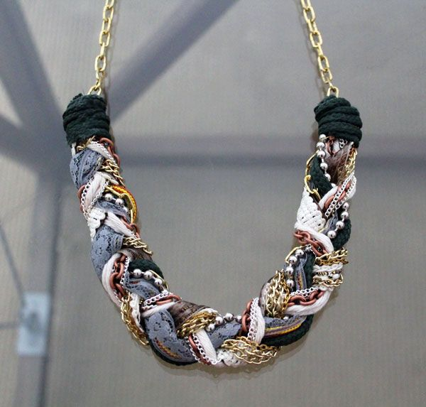 Make a Statement with Our DIY Chunky Braid Necklace | Brit + Co.