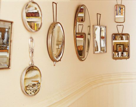 Wow!! Country-Style Bathrooms - @Country Living Magazine: Vintage Mirror, Antiques Mirror, Country Living Magazines, Hanging Vintage, Bathroom Collection, Bathrooms Decor, Cool Ideas, Country Style Bathroom, Bathroom Decor