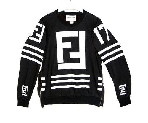 HOMME FEMME LA Karl Lagerfeld Hockey Sweater