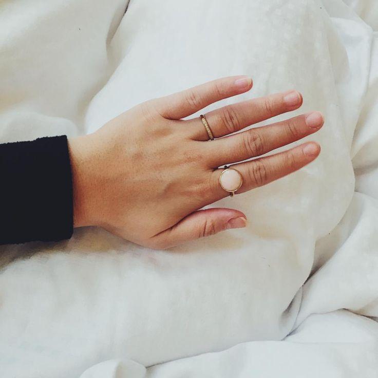Styling by chrstnajn showing Infinity Zirconia Ring Gold  and Bubble Facet Ring Pink Xlarge Gold #jewellery #Jewelry #bangles #amulet #dogtag #medallion #choker #charms #Pendant #Earring #EarringBackPeace #EarJacket #EarSticks #Necklace #Earcuff #Bracelet #Minimal #minimalistic #ContemporaryJewellery #zirkonia #Gemstone #JewelleryStone #JewelleryDesign #CreativeJewellery #OxidizedJewellery #gold #silver #rosegold #hoops #armcuff #jewls #jewelleryInspiration #JewelleryInspo #accesories…