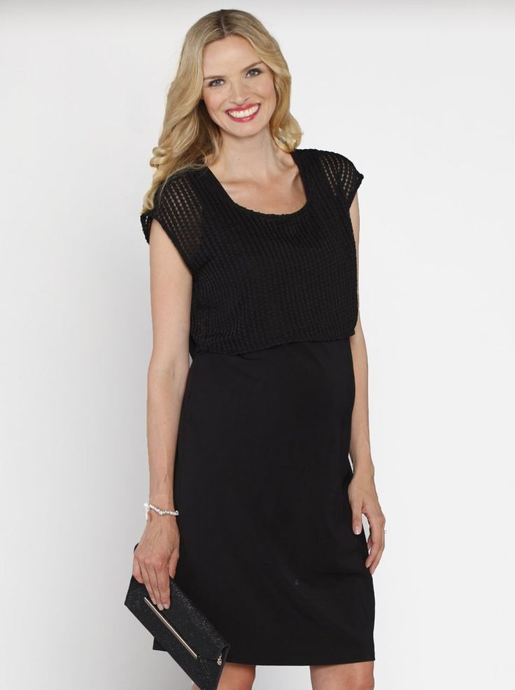 Perfect for any busy mums Smart design with under layered nursing panel for easy nursing access. Comes with a bonus mesh top - Perfect for any party Or you can use the sleeveless dress as is A great maternity dress excellent for before/after use.   Fabric: 65% Rayon 30% Nylon 5% SpandexStyle No. N824B/221B