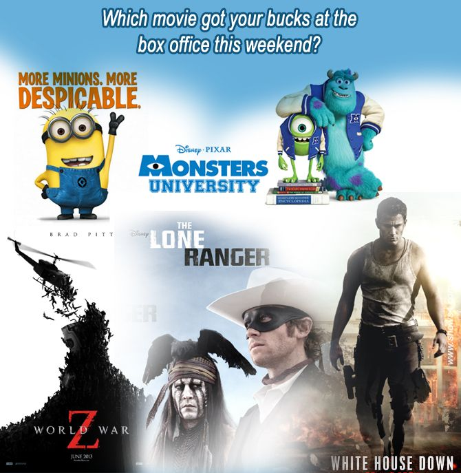 Which movie got your bucks at the  box office this weekend?