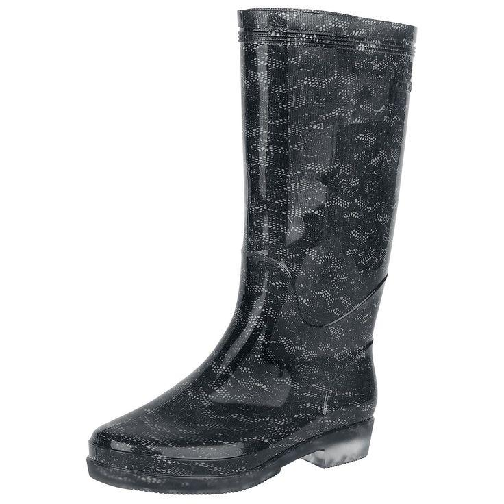 """Stivali di gomma """"Lace Rain Boots"""" del brand #Alcatraz."""