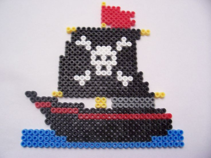 Pirate Ship   Midi Beads - Hama Design - Pirate Box Set   Shazann   Flickr