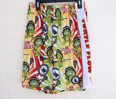 Flow Society Rasta Turtle Youth Lacrosse Shorts   eBay