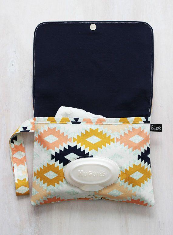 Diaper Clutch Agave Field Fabric Southwest by BlackArrowStudio