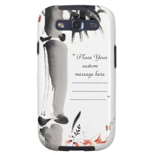 Classic oriental chinese sumi-e ink bamboo tree galaxy SIII case