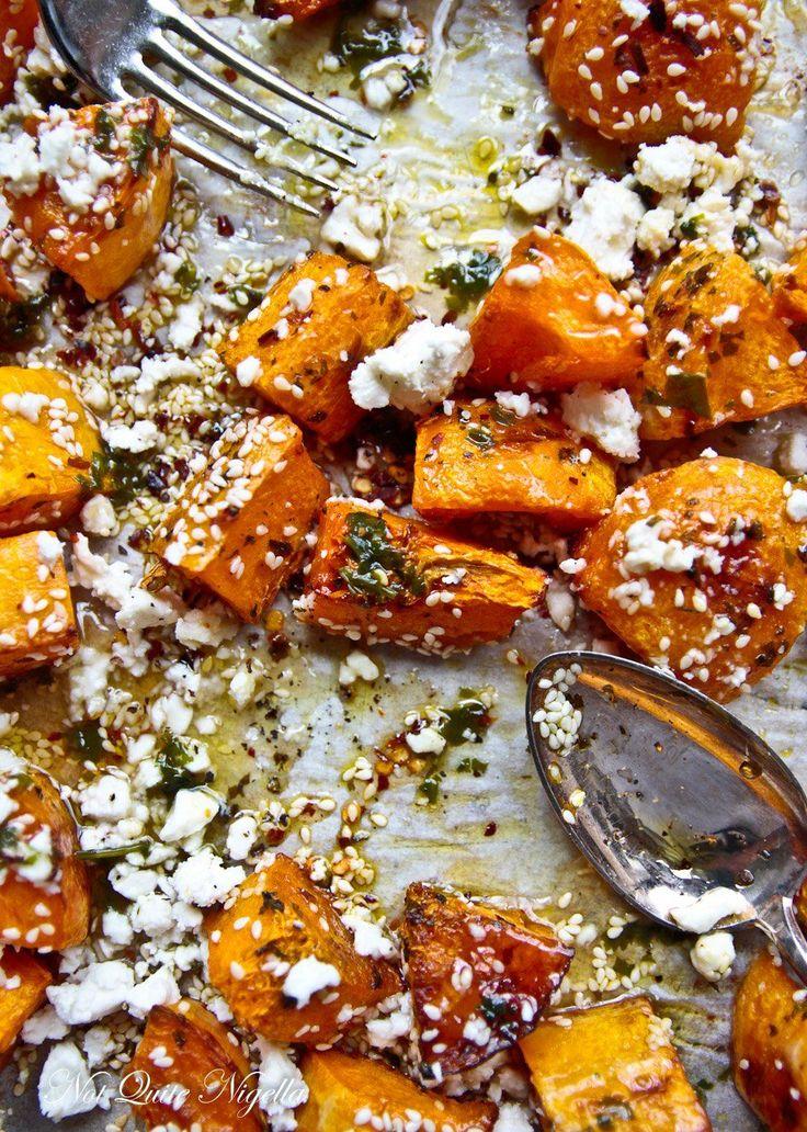 Roast Pumpkin With Feta & Honey @ Not Quite Nigella