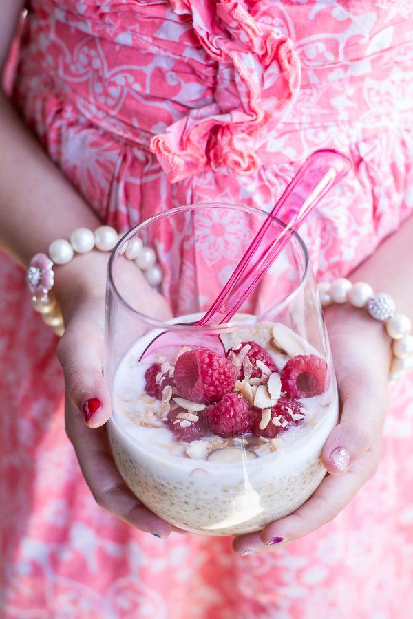 Vanilla Bean Coconut Quinoa Pudding with Honey Drizzled Raspberries | halfbakedharvest.com
