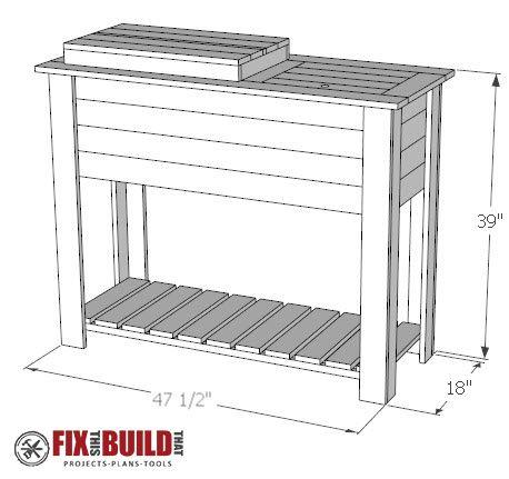 DIY Patio Cooler Grill Cart PDF Plans
