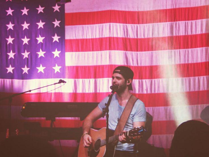 Thomas Rhett sang a new song titled 'Merica