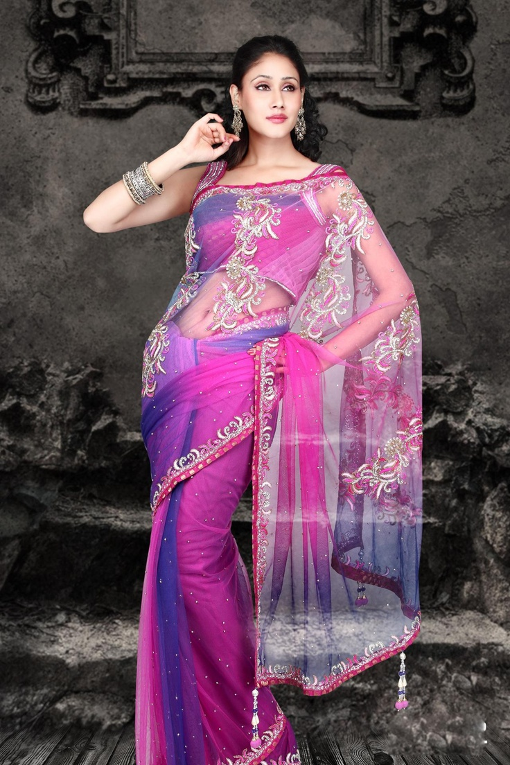 Pink Net Saree: 17 Best Images About Latest Fashion Saree On Pinterest