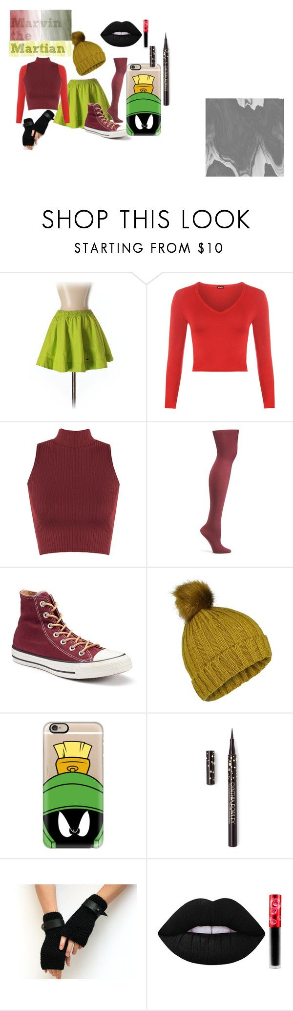 """Marvin the Martian"" by jmclarty on Polyvore featuring Hollister Co., WearAll, Old Navy, Converse, Miss Selfridge, Casetify, Cynthia Rowley, Lime Crime and looneytunes"