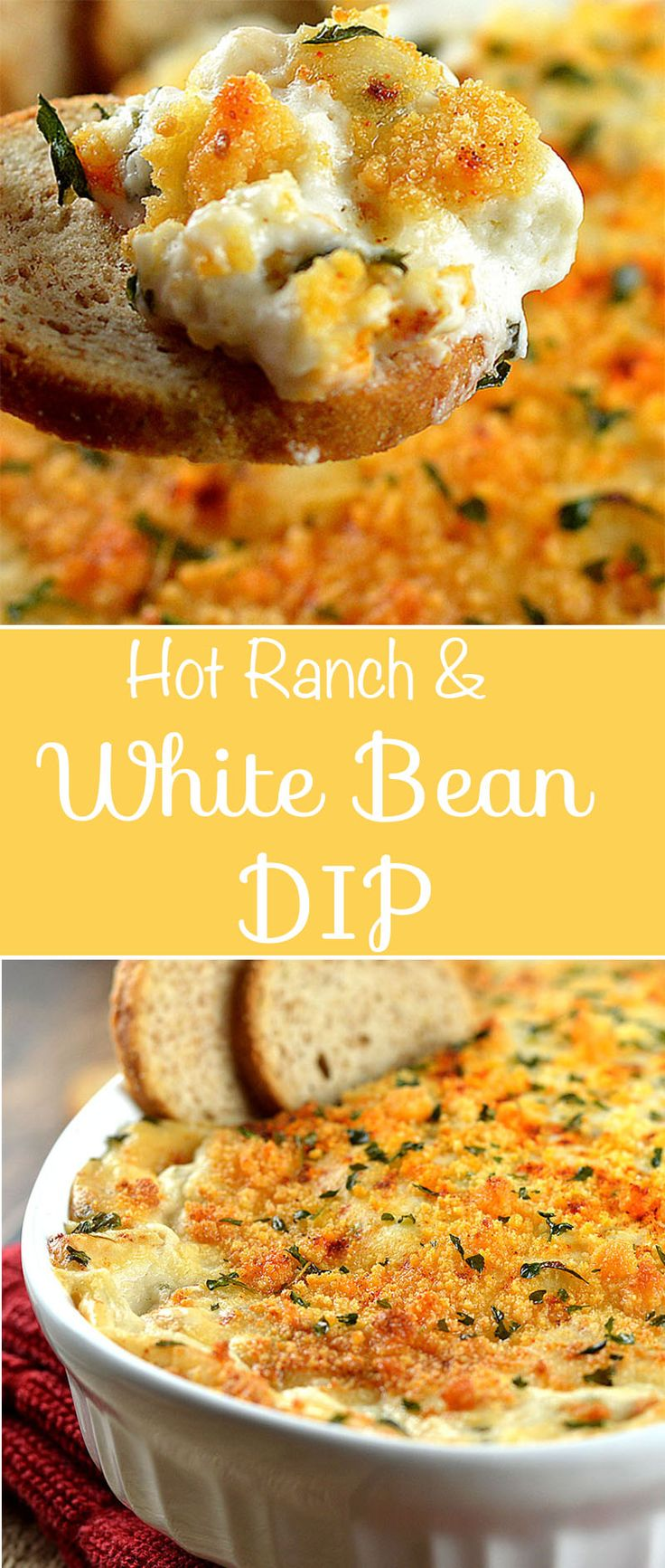 Hot Ranch and White Bean Dip by The Veg Life!