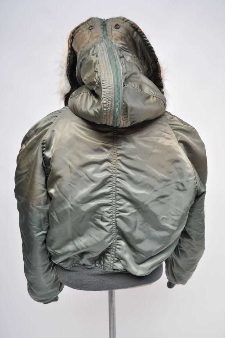 vintage n-2b jacket flyers parka n2b avirex large by goodbyeheart