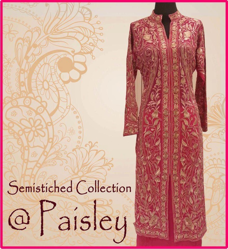 #Semi #Stiched #Paisley