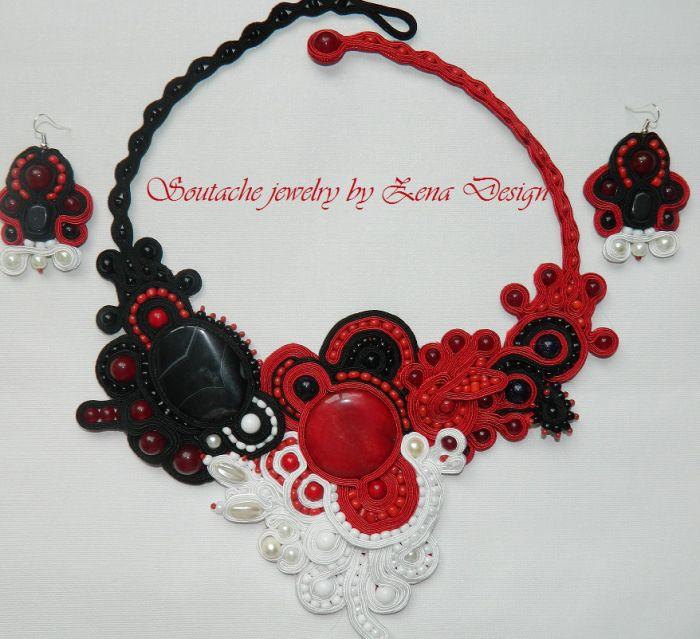 Soutache bijuterii de design Zena