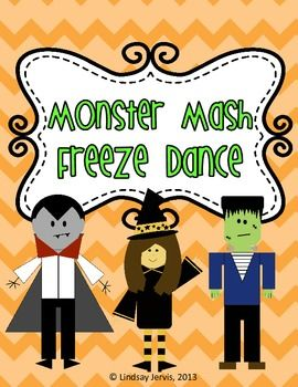 halloween monster mash freeze dance brain break - Dance Halloween Songs