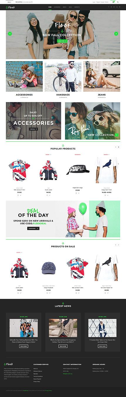 Trendy Accessories & Handbags Online Store #WooCommerce #template. #themes #business #responsive #WooCommercethemes