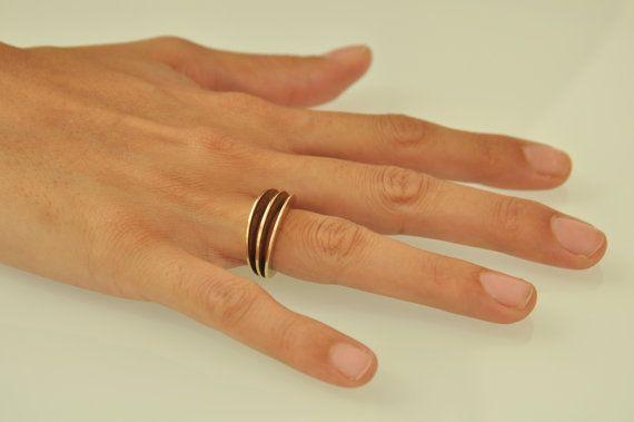 Fan 14k gold ring woman gold ring elegant by LiatWaldmanJewelry, $855.00