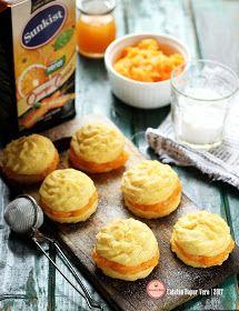 Soes dengan Vla yang dibuat dari  minuman @sunkistid   yang rasa orange-carrot ini beneran seger, makan soesnya jadi berasa beda. An...