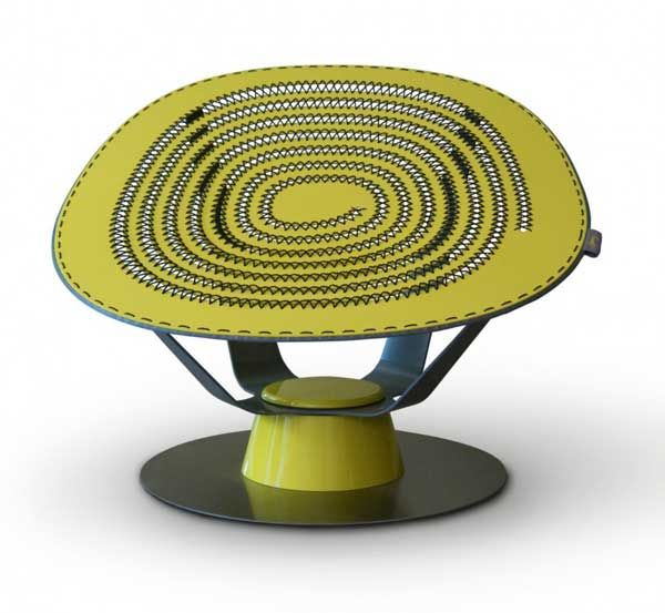 Attractive Unusual And Dynamic Sprung Chair By Jason Klenner