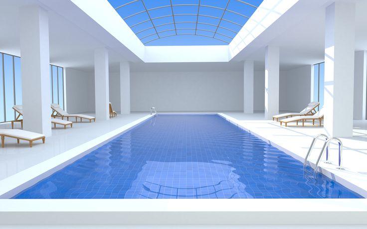 luxury contemporary indoor outdoor pools - Google Search