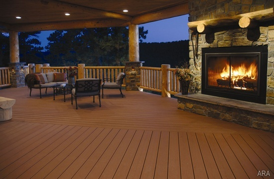 Classic and elegant home deck