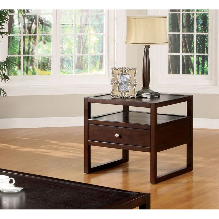 This Contemporary Espresso End Table Will Elegantly Complement Your Living  Room Decor While Providing Functional Compartments. Espresso End TableSofa  ...