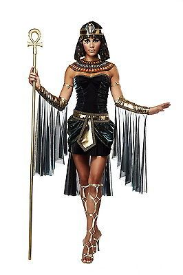 Sexy Sensual Seductive Cleopatra Egyptian Goddess Halloween Costume Adult Womens