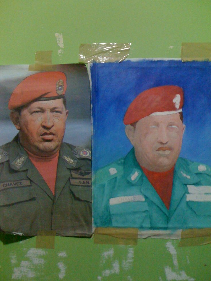 en proceso, retrato de Hugo Rafael Chavez Frias (+) Oleo sobre Tela