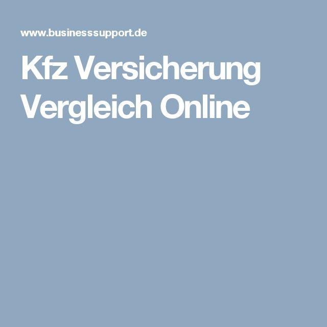 Kfz Versicherung Vergleich Online