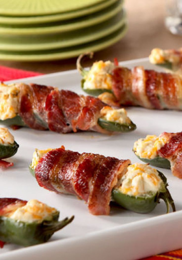 Bacon-Wrapped Jalapeño Peppers – These cheesy, OSCAR MAYER bacon-wrapped appetizers are creamy, crispy, spicy, and (most importantly) delicious. They are the perfect bite-sized eats for a variety of occasions, and great for any time of year.