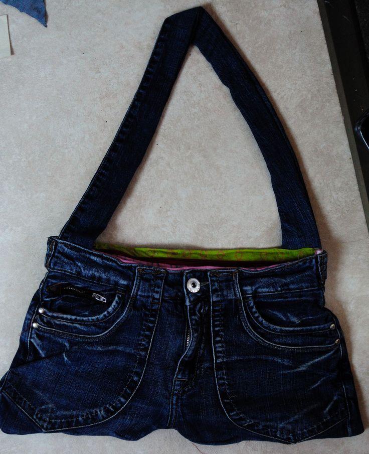 Renske Creatief: recycle spijkerbroektas incl tutorial / beschrijving